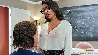 horny teacher fucks with her students