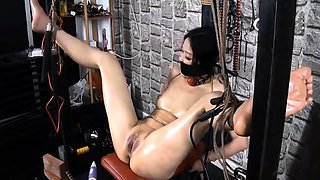 Fetish babe in bdsm fucking