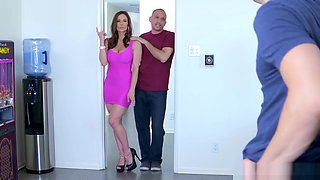 Hunk Alex is cooking dinner and Kendra seduce him and gives blowjob