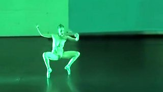Nude art show with a naughty ballerina