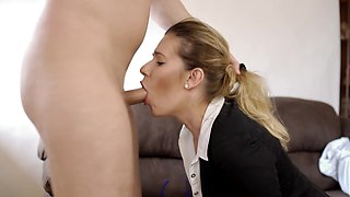 Boss Hard Pumping Secretary Throat. Sloppy Gagging Facefuck of TruuTruu.