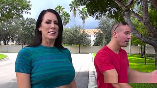 Huge Tits Milf Bangs In Rental Office