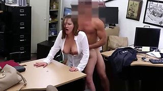 Shy Pawn Shop Customer Whips Out Big Tits & Fucks Big Cock