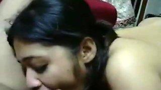 Beautiful Desi couple hard first fuck in honeymoon
