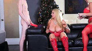 Santa Sends 2 Hot Big Tit Blonds for Christmas