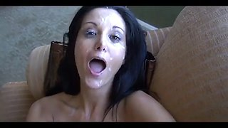 Ava adams happy with massive facials