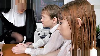 Nerdy studs big load squirted on Sister Lily and teen Alexa Nova