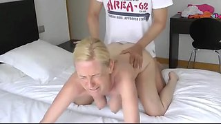 Mature sexy wife having a real orgasm with tourist