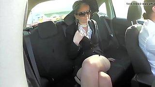 Milf walking and car exposing