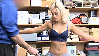Perky blonde punished for breaking into a store
