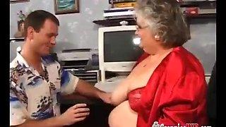 Granny fucked to orgasm