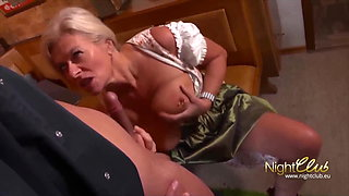 Horny Blonde MILF cumming multiple times when fucked rough