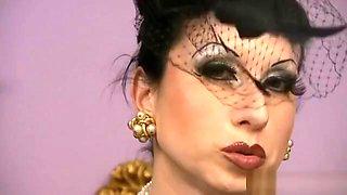 classy satin OTT Makeup nylon milf smoking
