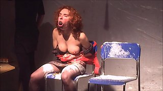 Maria João Floxo is getting stripped and abused with hard nipples