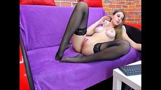 Sexy tanja masturbate in stockings