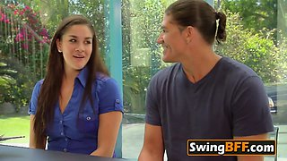 Nasty couple tries SWINGER experiences and they love it