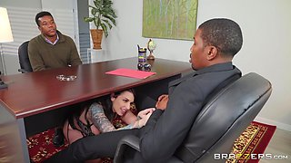 stunning Ivy Lebelle adores doggy style after a blowjob on the floor