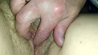 It must have felt really good and this slut is so proud of her hairy fuckhole