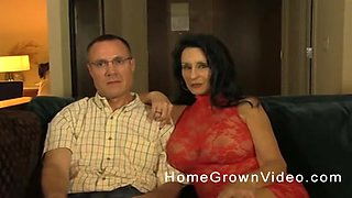 His huge-titted wife has a young fuck buddy to make her day