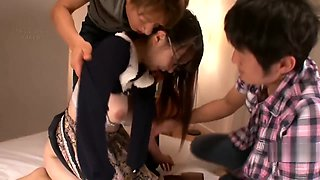 Gcup home tutor Noa Kasumi sex with two students (javplayer)