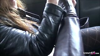 Real street prostitute fuck in car for money by bbc german