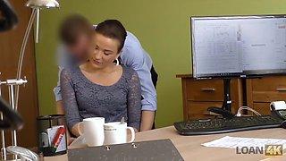 Loan4k. slutty fraces wants to taste the dick of her loan