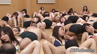 Hot Huge hardcore uncensored Japanese orgy