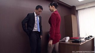 Bossy lady Kurokawa Sumire adores sex in all different poses with a dude