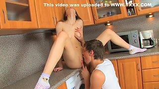 Beata Undine sex in the kitchen