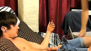 Dominant gay top Patrick Kennedy cums in twinks horny mouth