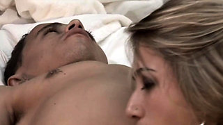 Blonde bombshell banged by a horny midget