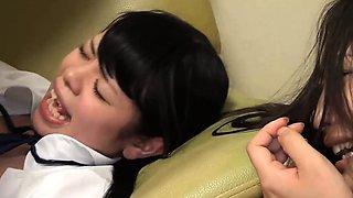 Petite Yazawa Miya Ambushed On The Couch Mum