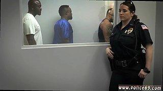 Brunette fucked in bathroom xxx Milf Cops