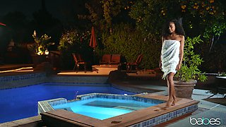 Shyla Jennings and Scarlit Scandal decide to have a night swim