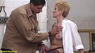 Skinny moms bush rough fucked by her toyboy
