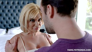 Jumping on a hard dude's cock is the favorite sport of Sara St Clair