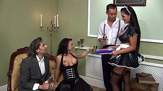 Jasmine Black & Elizabeth Lawrence Stockings Foursome