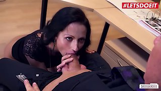 Letsdoeit hot secretary july sun takes deep pounding from her boss