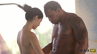 Horny black swimming coach fucks beautiful white girl Lady Dee and
