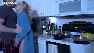 Son Punishes Mom in the Kitchen