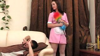 Russian maid Judith gets screwed hard