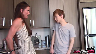 MILF Sofie Marie Caught Fucking Her Hung Young Stepson