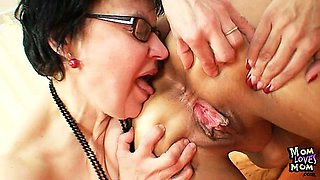 Granny amateur moms kissing and using passion bullets sex
