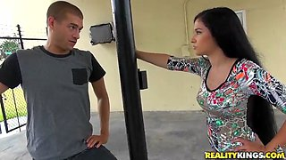 Teen goddess with amazing tits smashed hard by her bf