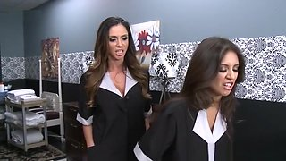 Horny Maids Suck And Fuck The Home Owner