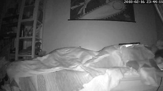 Anime weeb chick caught humping and masturbating ipcam