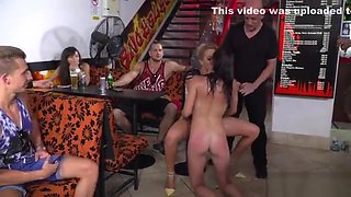 Slave and mistress fucking in public