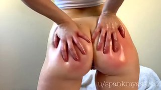 Amateur pawg oiled dildo ride