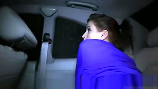 Babe gets ass cumshot in fake taxi