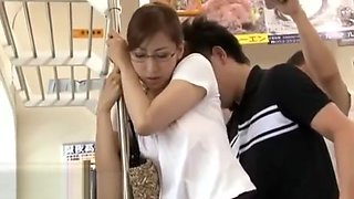 Japanese teacher got fucked on a bus
